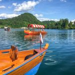 pletna boat on lake Bled
