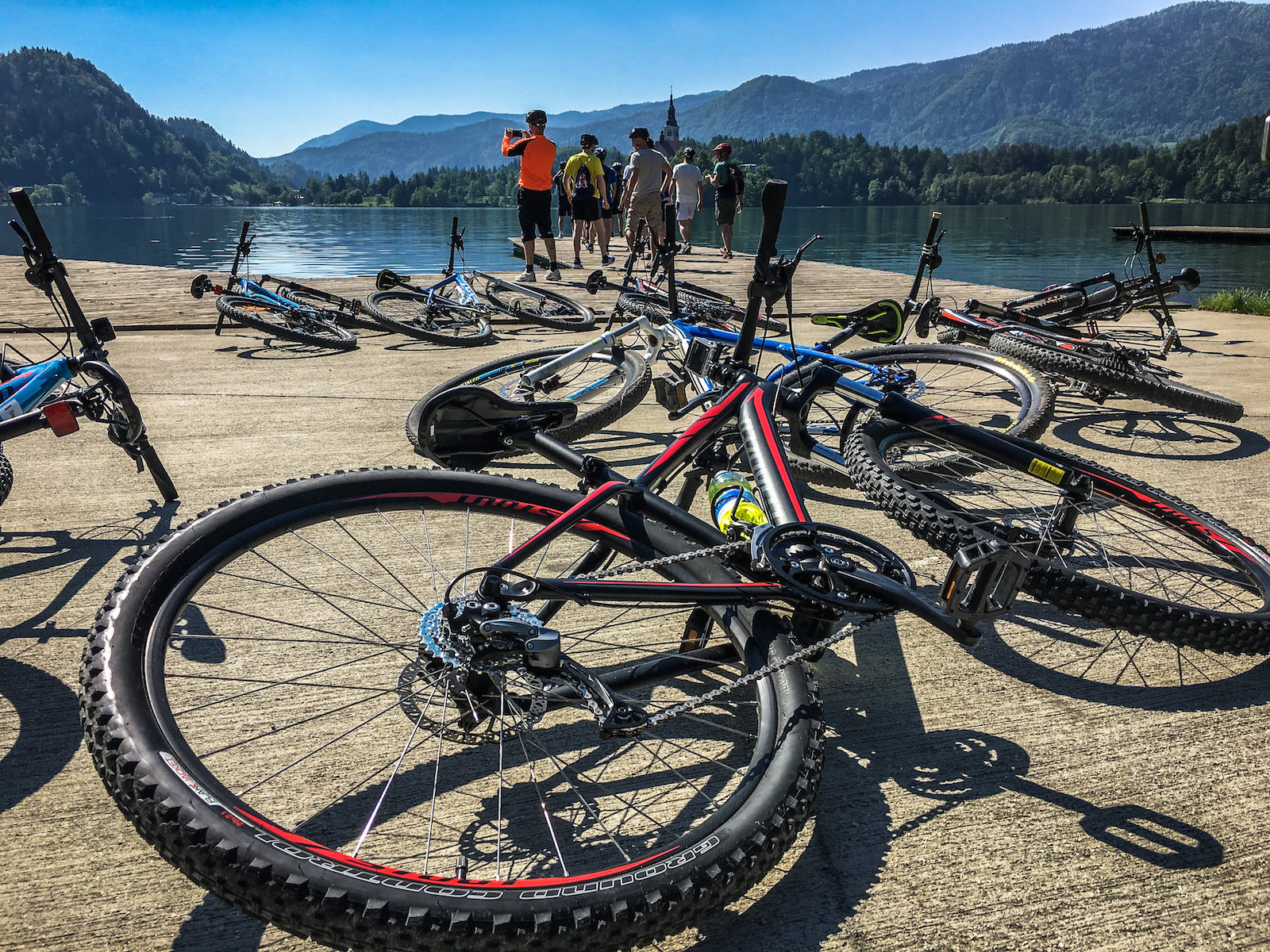 Specialzed bike on the shore of lake Bled