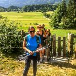 Hikers in Bohinj valley