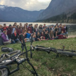 By the lake Bohinj with e-bikes