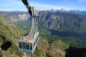 vogel cable car with lake view