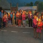 Torch walk in Bohinj valley