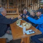 Alpine snack with the locals