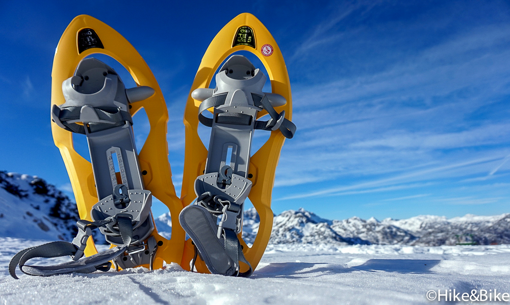 snowshoes on the snow