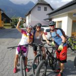 cyclists ready for MTB day out in Bohinj valley