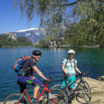 cycling at lake Bled