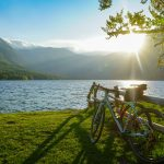 gravel bikes by lake bohinj