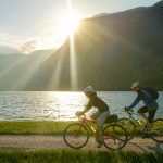 gravel bike by lake bohinj