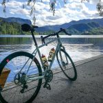 road bike and Bled island
