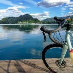 road bike at lake Bled