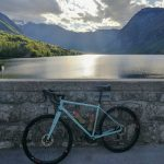 road bike by lake Bohinj