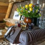 schnapps and alpine flowers in slovenia