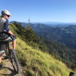 mountain biker in the julian alps