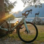 custom specialized gravel bike by lake bohinj