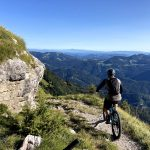 singletrail in julian alps
