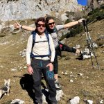 happy hikers in julian alps