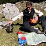 lunch preparation during a hike