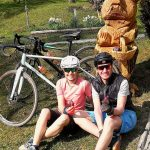 road cyclists in slovenia on easter