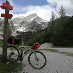 specialized gravel bike on top of vrsic pass julian alps