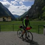 gravel cyclist in trenta valley slovenia
