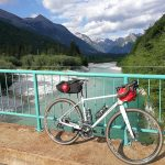 gravel bike above soca river