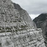 detail in the triglav north wall