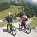 mounatin bikers in soca valley
